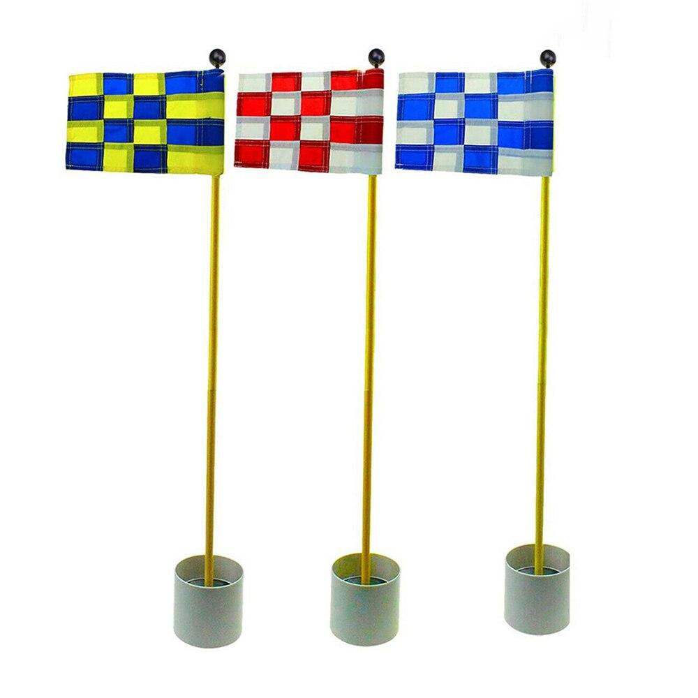 Crestgolf Backyard Putting Green Golf Hole Pole Cup Flag Sticks 3 Set/Pack