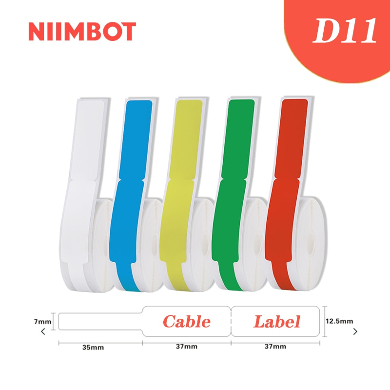 NiiMBOT D11 Self Adhesive Cable Stickers Waterproof Identification Fiber Wire Tags Labels Organizers Network Marker Tool