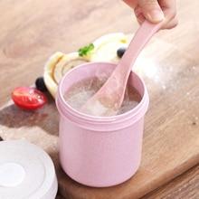 Tasse à soupe scellée avec couvercle   Matériau sain de 550ML paille de blé, boîte à Lunch Portable, Mini Bento, tasse de boisson à micro-ondes pour bouillie