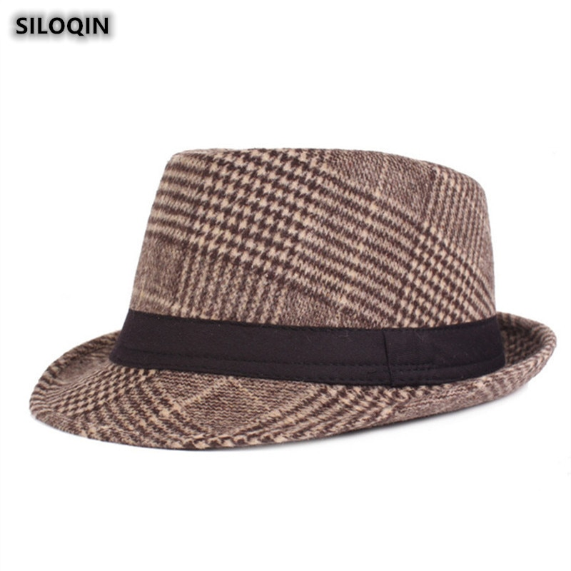 SILOQIN Trend Autumn Winter Thicken Thermal Fedoras For Men Fashion Leisure Motion Jazz Hats Sombrer