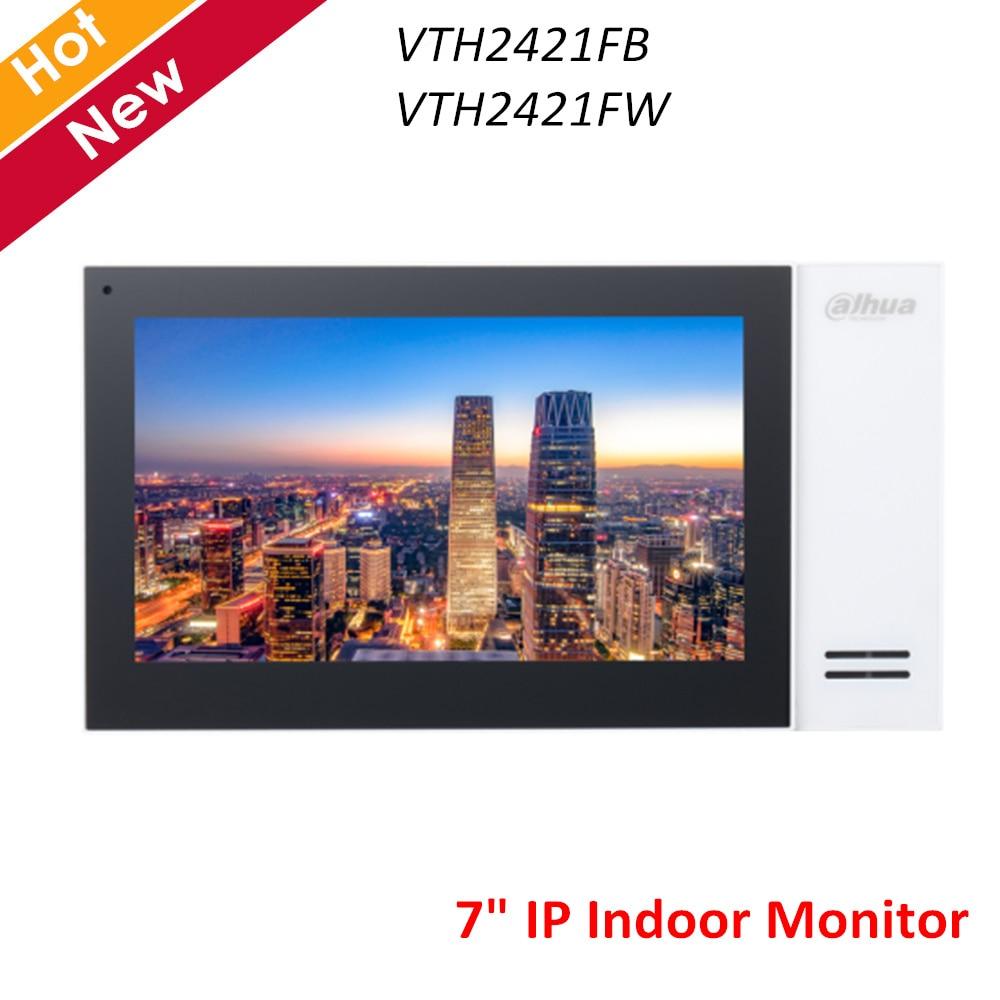 """Dahua IP внутренний монитор 7 """"TFT емкостный сенсорный экран 1024x600 встроенный громкоговоритель сигнализации интеграции VTH2421FB VTH2421FW"""