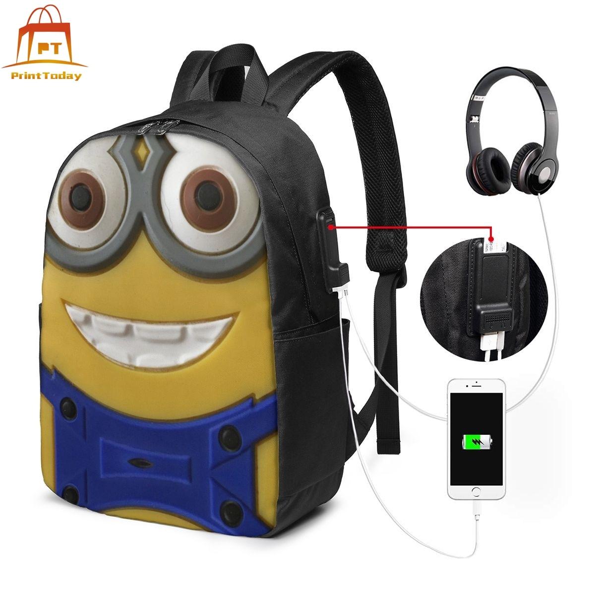 Mochila De Minion, mochilas con múltiples bolsillos, de alta Bolsa De Calidad, estampado callejero para adolescentes, bolsos de tendencia para hombres y mujeres