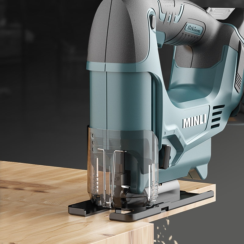 Lithium Battery Saw Woodworking Small Power Tool Portable Wire Saw Wood Cutting Machine enlarge