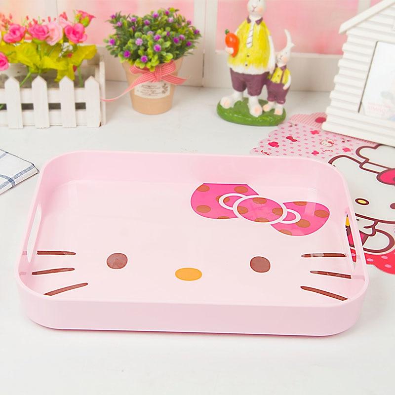 Новый узор Розовый цвет поднос обслуживание чаша прекрасный завтрак фрукты Прямоугольник диск обеденные тарелки мультфильм