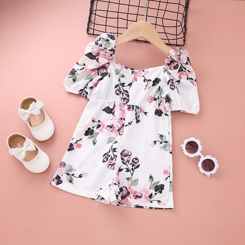 2021 Baby Girl Dress Kids Summer Clothes Fairy Elegant Designer White Birthday Cute Fashion Flower Casual Cotton Evening Costume