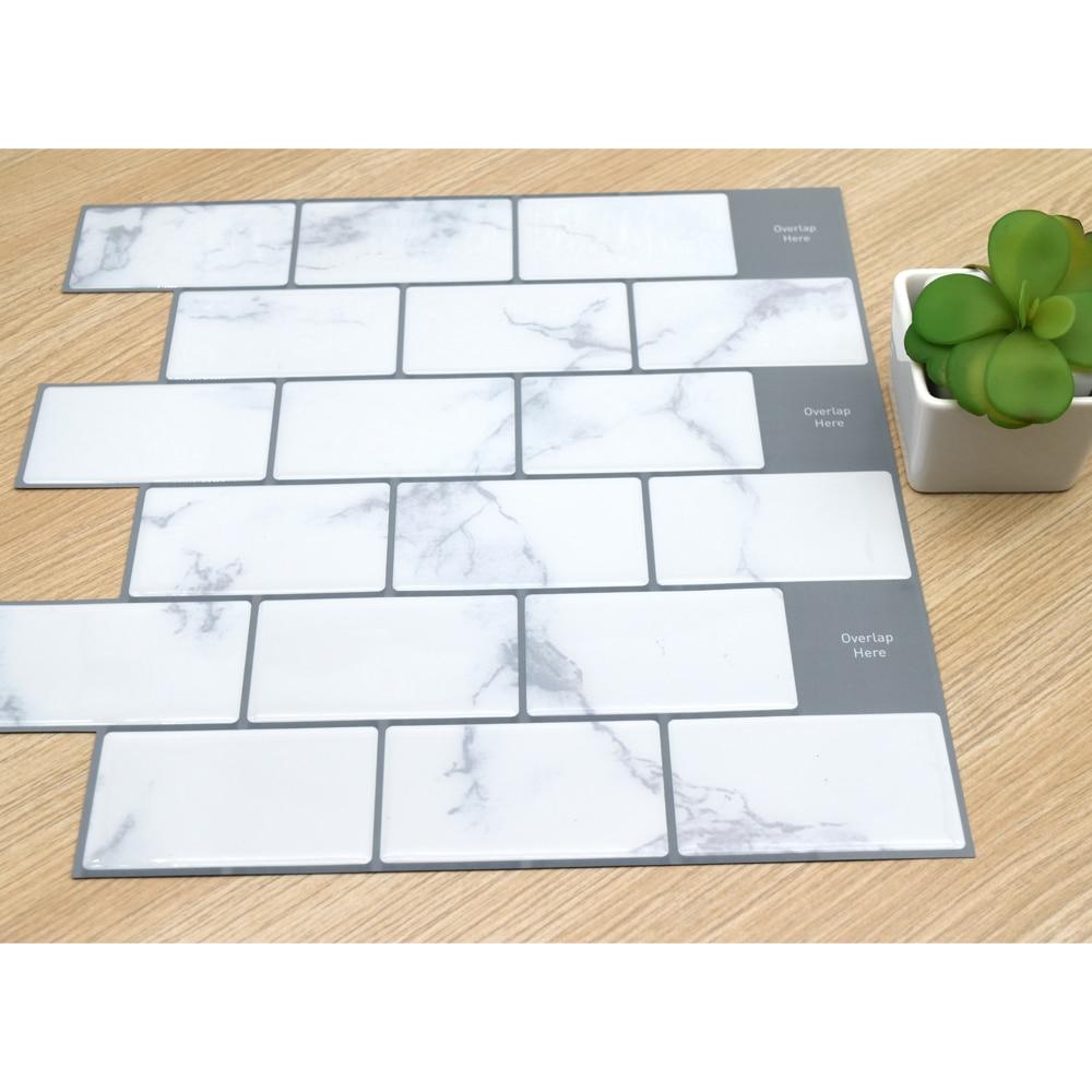 3D Wall Subway Brick Kitchen Tiles Stickers 1PC Vinyl Home Decor Kitchen Self Adhesive Wallpaper Peel and Stick Waterproof Hot
