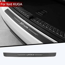1pc car trunk decorative protective stickers Bumper decoration modification For Ford VIGNALE KUGA ST
