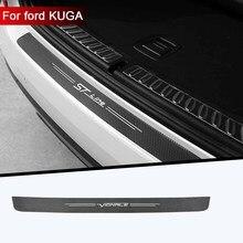 1pc car trunk decorative protective stickers Bumper decoration modification For Ford VIGNALE KUGA ST