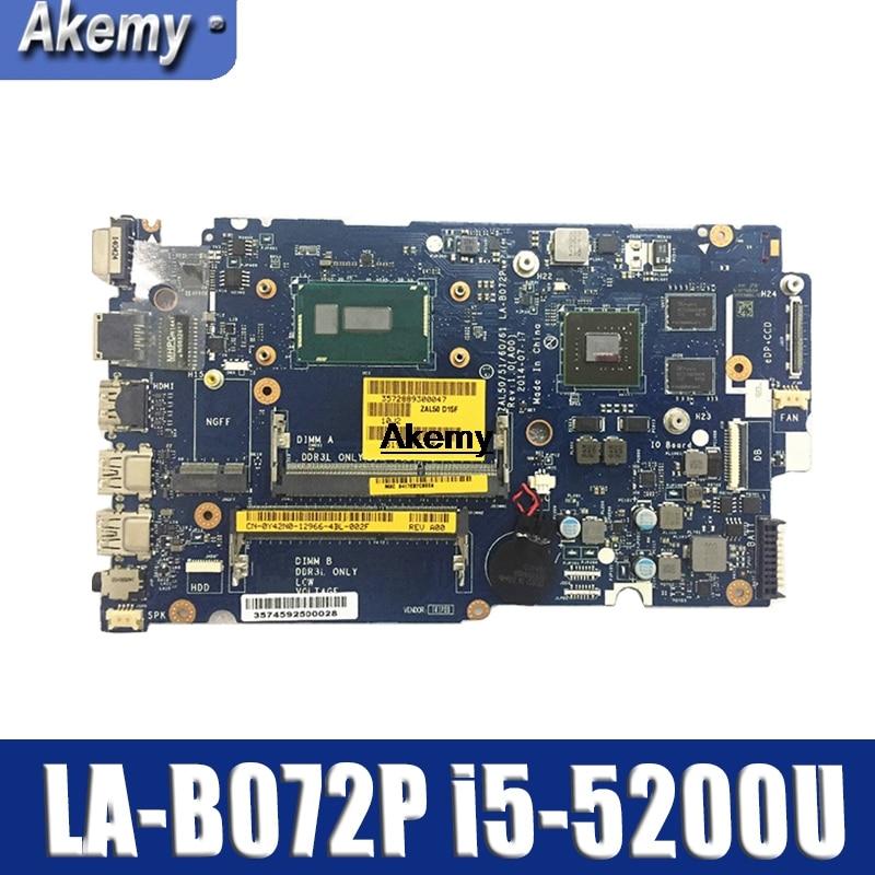 LA-B072P CN-0YWW5F CN-01J67F para Dell latitud 3450. 3550 placa base ZAL50/51/60/61 LA-B072P i5-5200u pruebas 100%