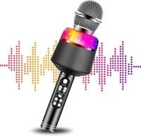 karaoke microphone for kids wireless bluetooth karaoke portable mic speaker player recorder for ktv birthday party