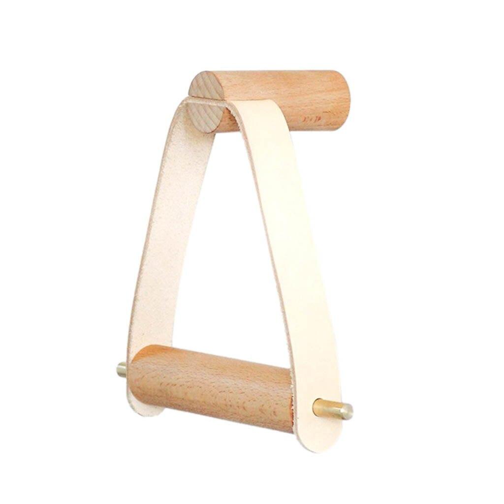 Estante de almacenamiento de toalla de papel creativo rollo de madera titular de tejido soporte colgante de baño Simple armario con suspensión estante colgante
