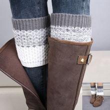 1 paire femmes fille Crochet tricoté bottes manchettes Toppers jambe genouillères manches bottes couvre hiver chaussettes cadeau