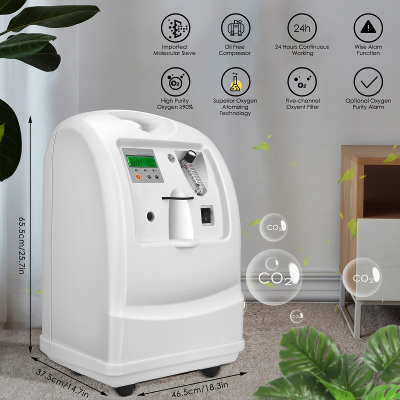 AUPORO High 93% Oxygen Concentrator Medical Portable Oxygen Machine for Pregnant Women With Fogging Home Elderly Five Liters халат домашний five wien home five wien home mp002xw0f4sc