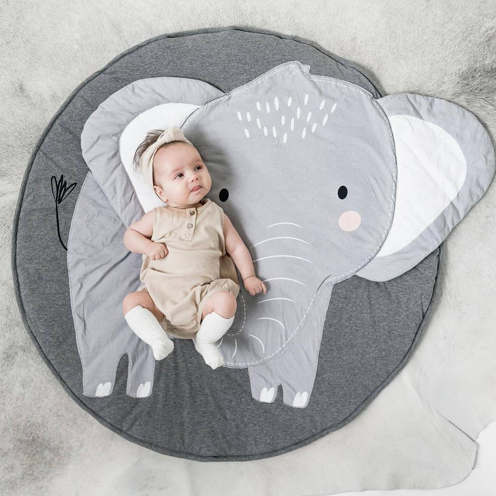 سجادة زحف بطبعة حيوانات ، سجادة زحف على شكل فيل للأطفال ، سجادة أرضية مزخرفة لغرفة الأطفال ورياض الأطفال