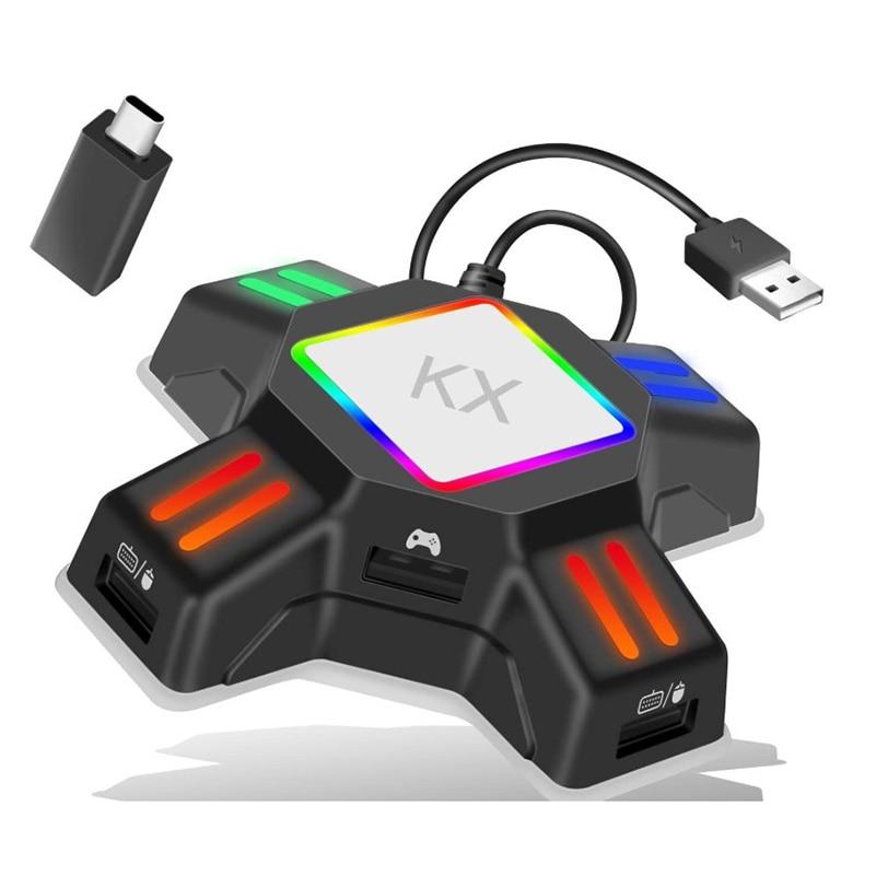 Adaptador KX para mando de PS4 ps5, convertidor de teclado y ratón...