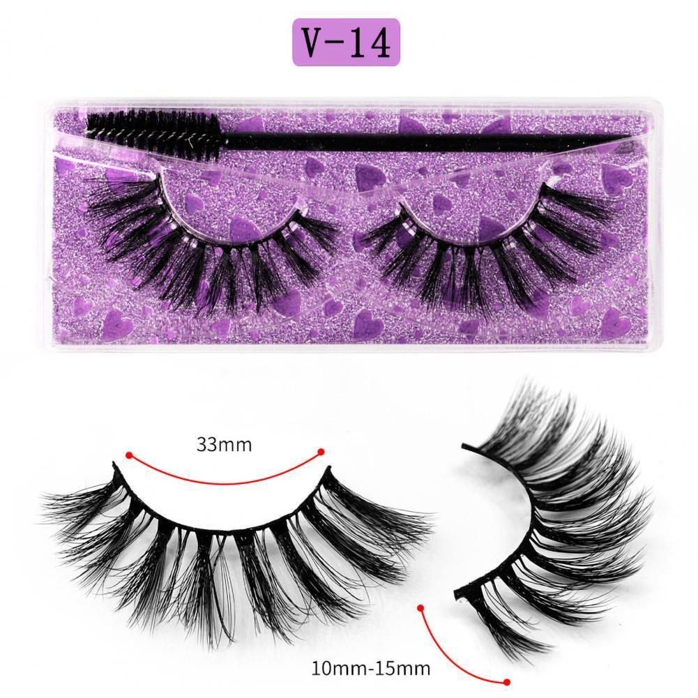 1 Pair Fake Eyelashes Three-dimensional Fashion Portable Artificial Eyelashes for Woman Natural Long