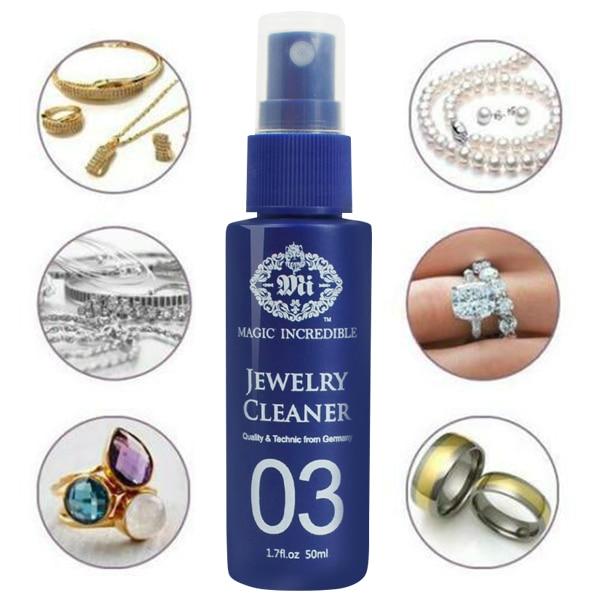 1/2/3 uds. Limpiador de joyas de 50ml reloj de oro anillo de diamantes aerosol de limpieza WXV venta