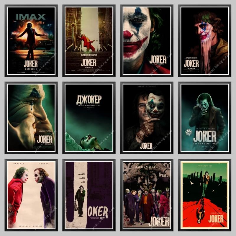 Новинка 2019 плакат с джокером крафт-бумага Джокер происхождение арт-Принт по фильму мультфильм СТЕНА картина Бэтмен враг старый фильм плакат