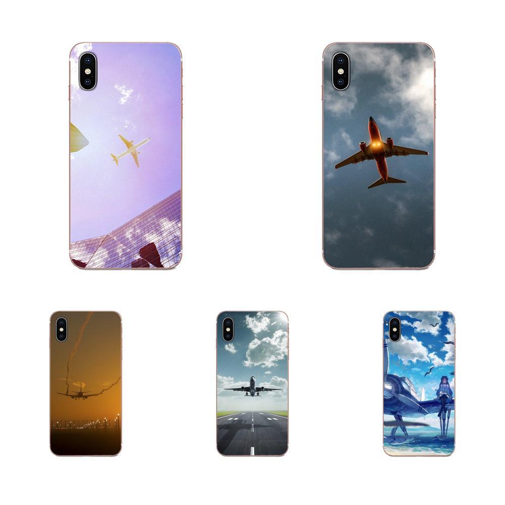 Aviones cielo aeropuerto para Xiaomi Redmi nota 2 3 3S 4 4A 4X 5 5A 6 6A Pro Plus TPU teléfono celular casos