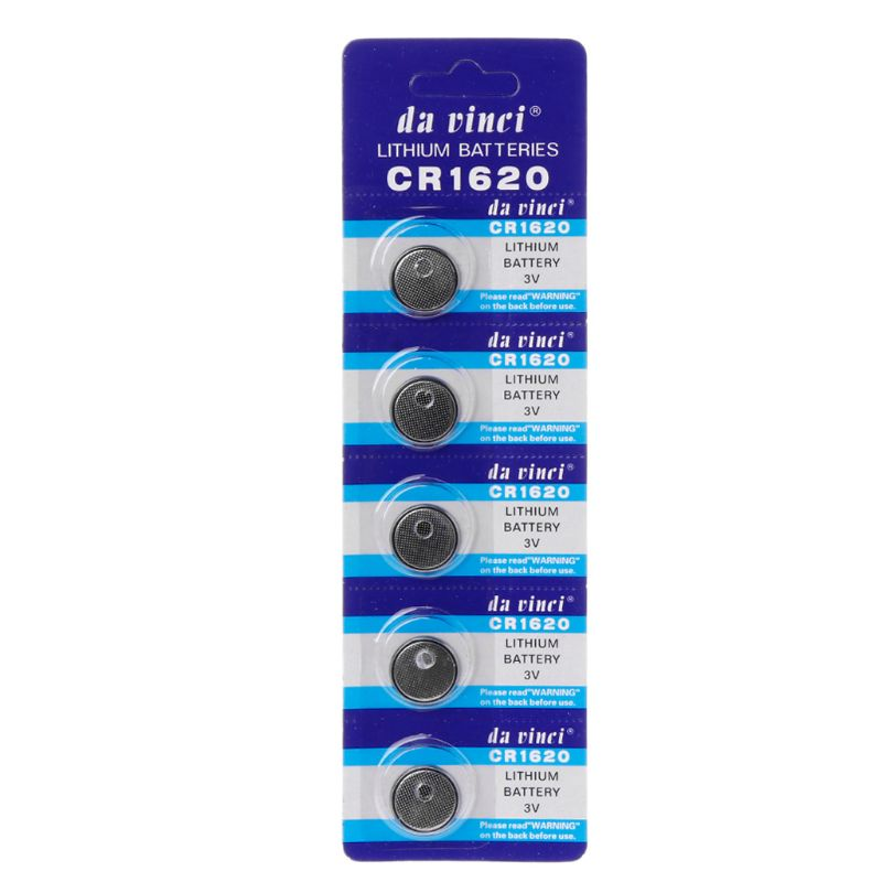 5PCS Lithium Battery CR1620 Electronic Button Coin Cell Batteries 3VECR1620 DL1620 5009LC Watch Toy Remote CR 1620 HX6A