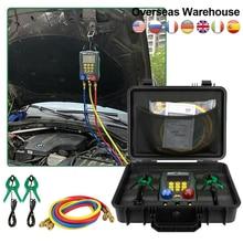 Система кондиционирования воздуха DY517A R134a, цифровой инструмент для ремонта холодильных установок, вакуумный тестер давления