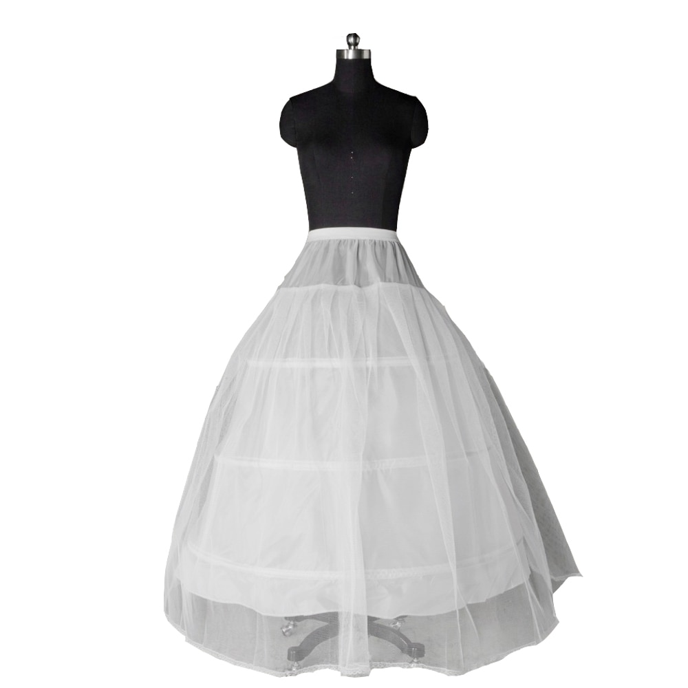 Jiayigong Hot Selling 3 Hoop Ball Gown Petticoat Wedding Dress Underskirt White Color In Stock