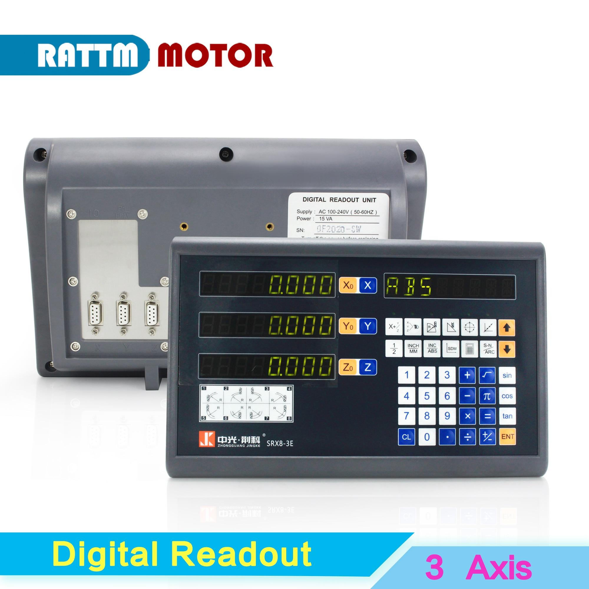 3 محاور LCD قراءات رقمية Dro عرض مخرطة خطية مقياس لآلة الحفر طحن جهاز التوجيه