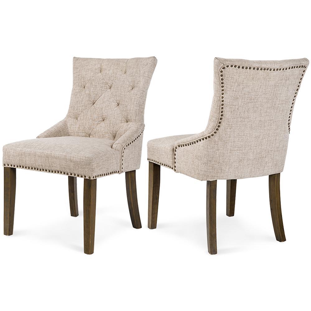 6 шт. обеденный стул для отдыха мягкое кресло кухонная мебель с подлокотником бежевый США Склад быстрая доставка