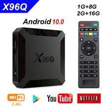 X96Q Smart TV BOX Android 10.0 pour Allwinner H313 Quad Core 2G RAM 16G ROM 4K NETFLIX Google play HD décodeur Android