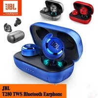 official jbl t280 tws wireless bluetooth earphones jbl t280tws stereo earbuds bass sound headset with mic charging box