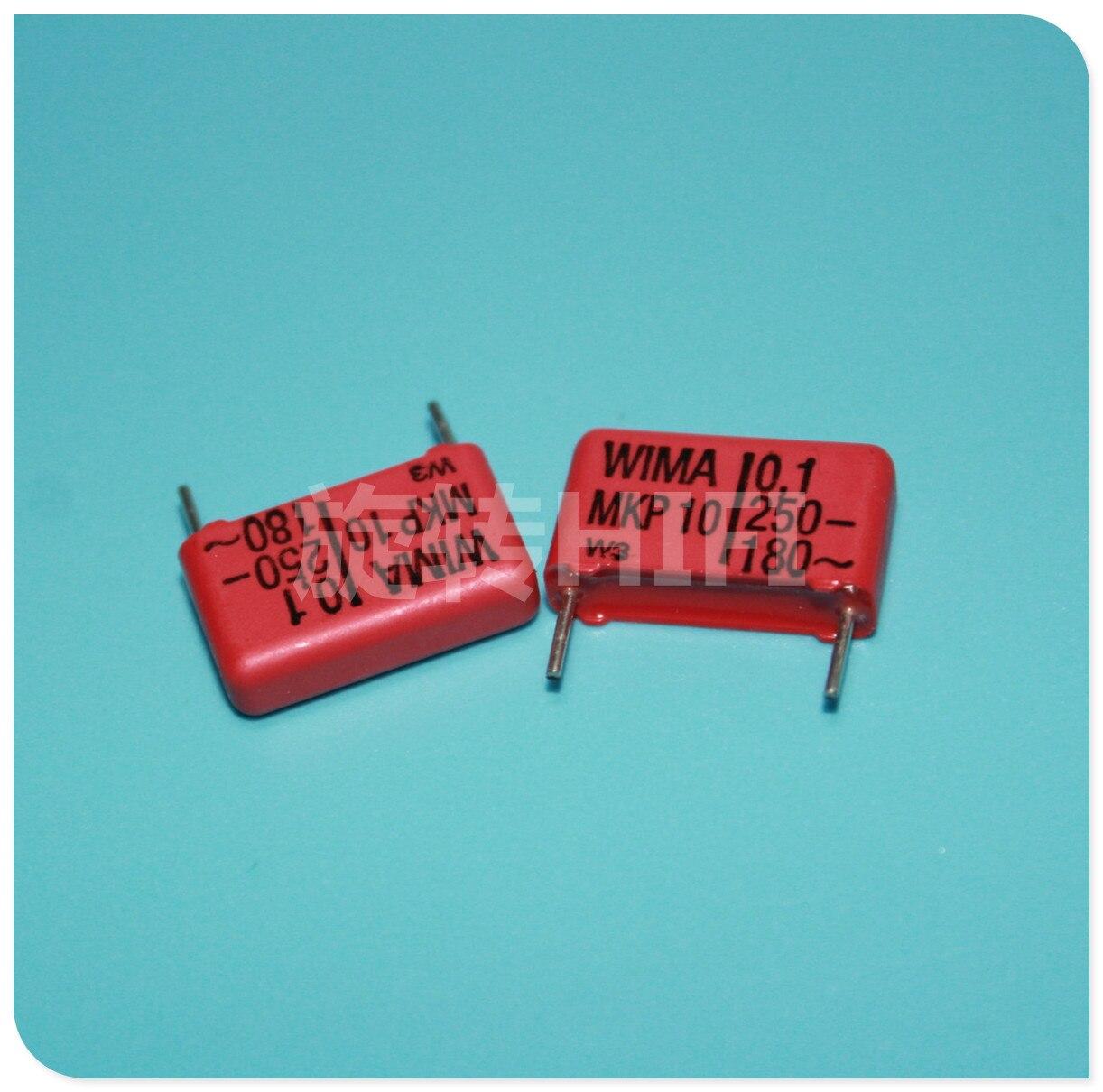 10 Uds rojo WIMA MKP10 0,1 UF 250V p15mm original nuevo MKP-10 104/250V audio 100nf película 104 PCM15 gran oferta 100NF/250V