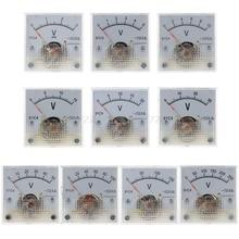 91C4 DC Voltmeter Analog Panel Spannung Meter Mechanische Zeiger Typ 3/5/10/15/20/ 30/50/100/150/250V O01 19 Dropship