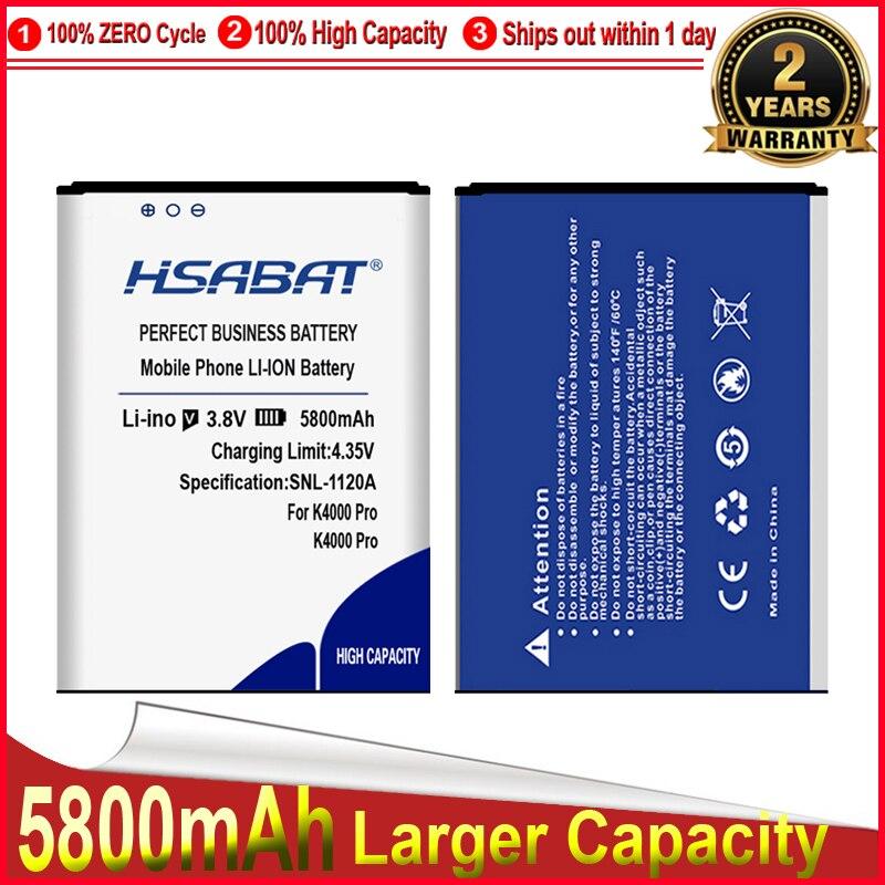 Batería HSABAT 0 Cycle 5800mAh para Oukitel K4000 Pro, acumulador de reemplazo para teléfono móvil de alta calidad