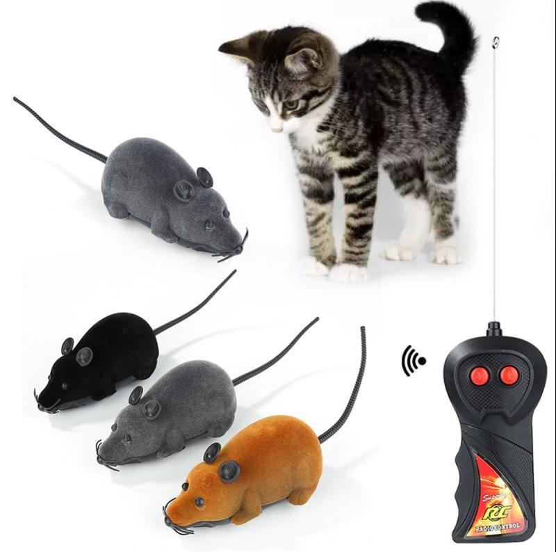 Pet Cat Mice Toy Wireless Remote Control Electronic Rat Mouse Mice Toy Remote Control Cat Puppy Funn