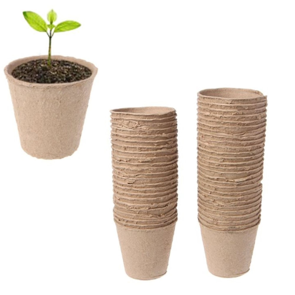 """5/10/20/50 sztuk 2.4 """"papierowy garnek roślin rozruszniki sadzonka Herb Seed przedszkole Cup Kit organiczny biodegradowalny ekologiczny dom odmiany"""