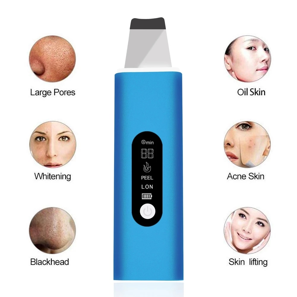 Ultrasonic Skin Scrubber Facial Cleansing Remove Acne Blackhead Peeling Shovel Cleanser Facial Peeling Cleansing Spatula недорого