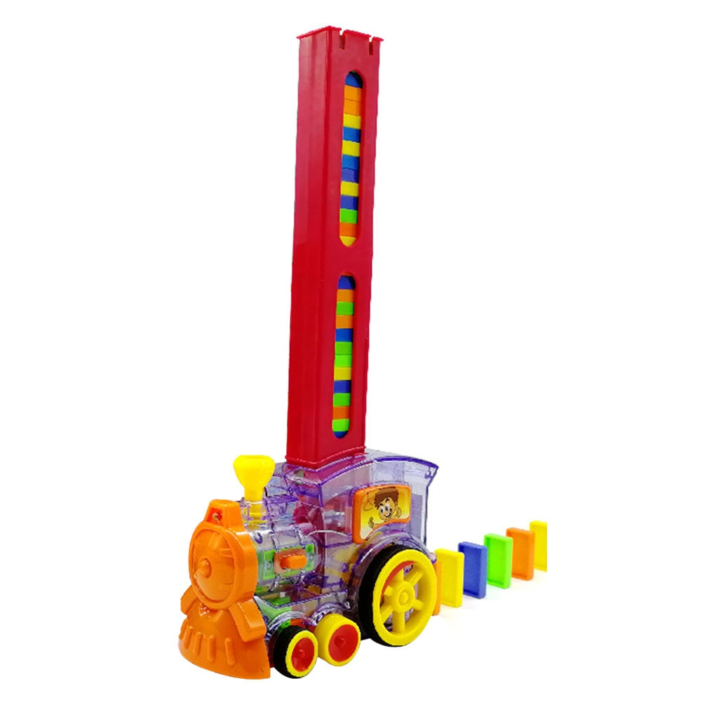 ABS juguete educativo bloques de reunión tren modelo de puesta colorido regalo ladrillo dominó Set sonido luz niños chica electrónica chico