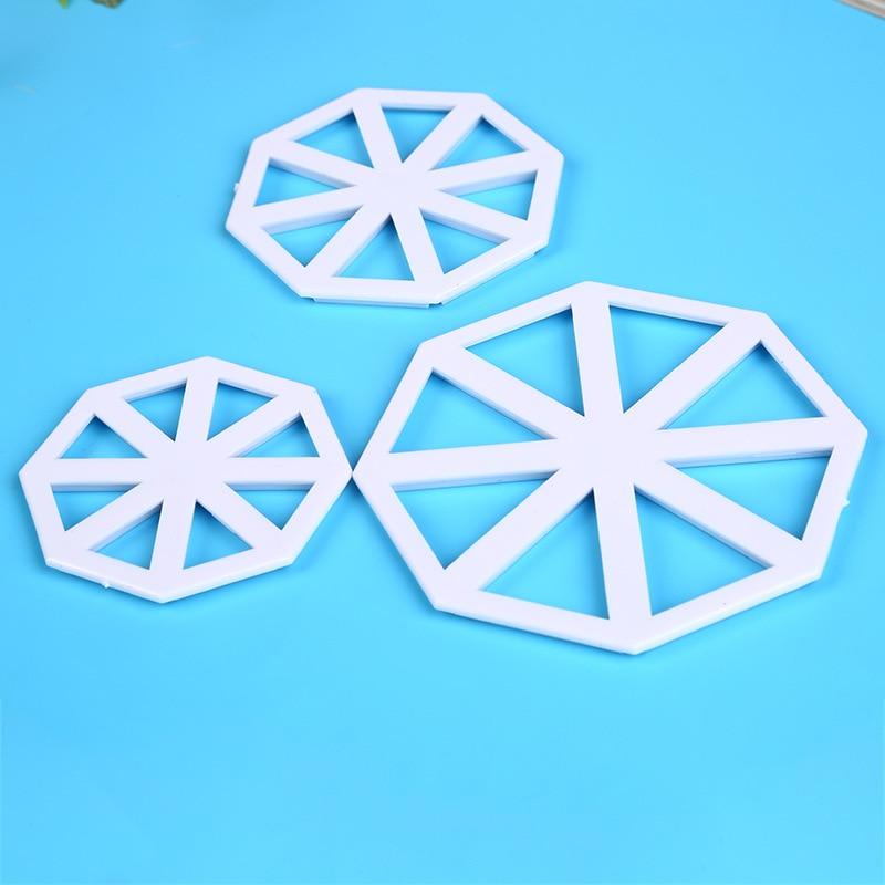 3 uds triángulo DIY Fondant molde para hornear pasteles herramienta de pastelería de cocina asado y troquel de corte de pasta