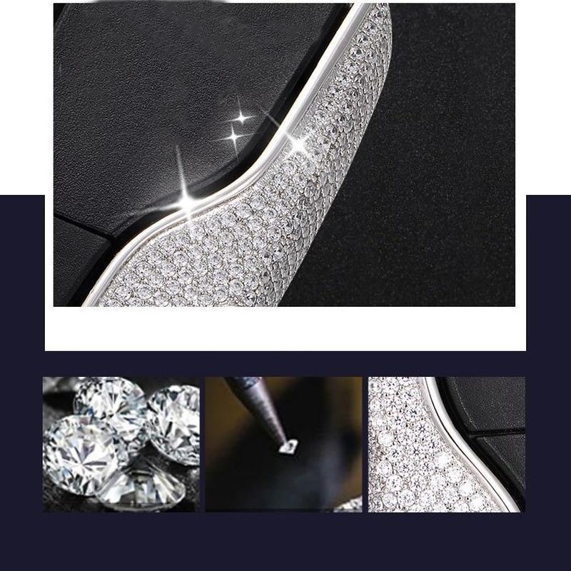 Car Key Case Cover Key Bag Shell Protector High Quality Aluminium Alloy Diamond Inlay for Maserati Ghibli Levante Accessories enlarge