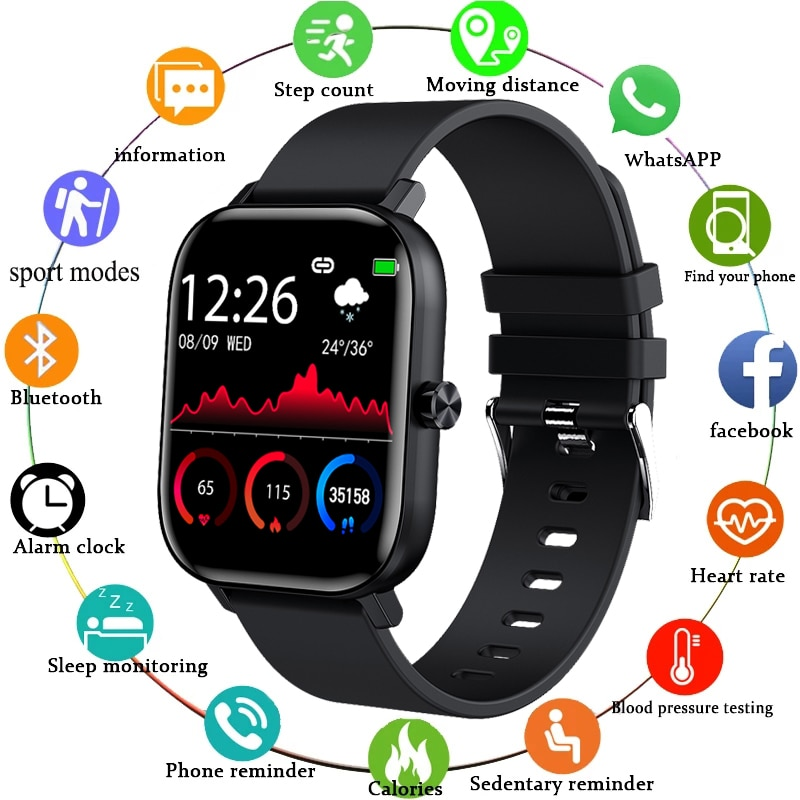 LIGE New Men Smart Watch Wristband Men Women Sport Clock Heart Rate Monitor Sleep Monitor Bluetooth