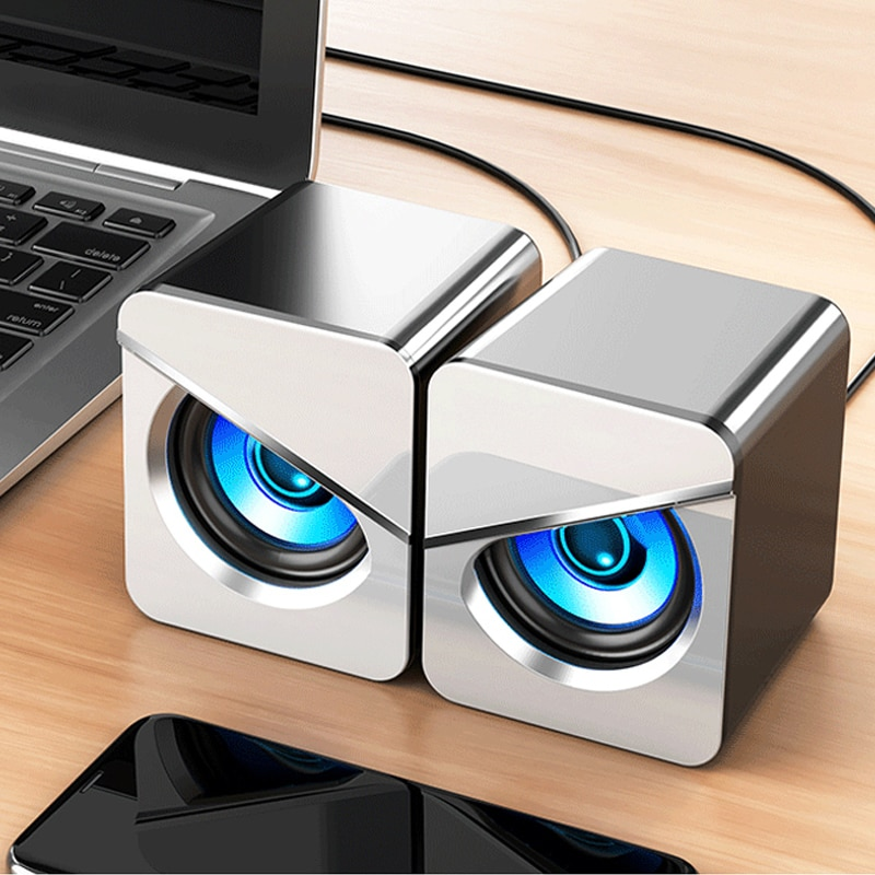 2020 New USB Wired Computer Speakers Surround Sound System LED PC Speakers Gaming Bass USB Wired For