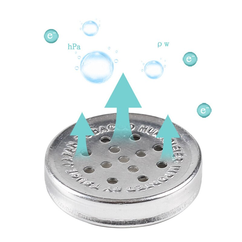 Liga de alumínio 28mm mini charuto humidor humidor redonda esponja tabaco caixa humidificação charuto fumar hidratante acessórios