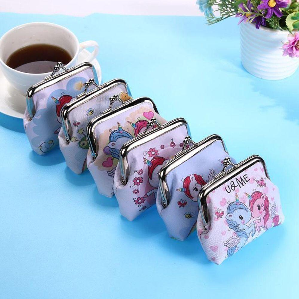 Mini Unicorn Wallet Card Holder Case Coin Purse Clutch Change Bag Children's Wallets Change Holder W
