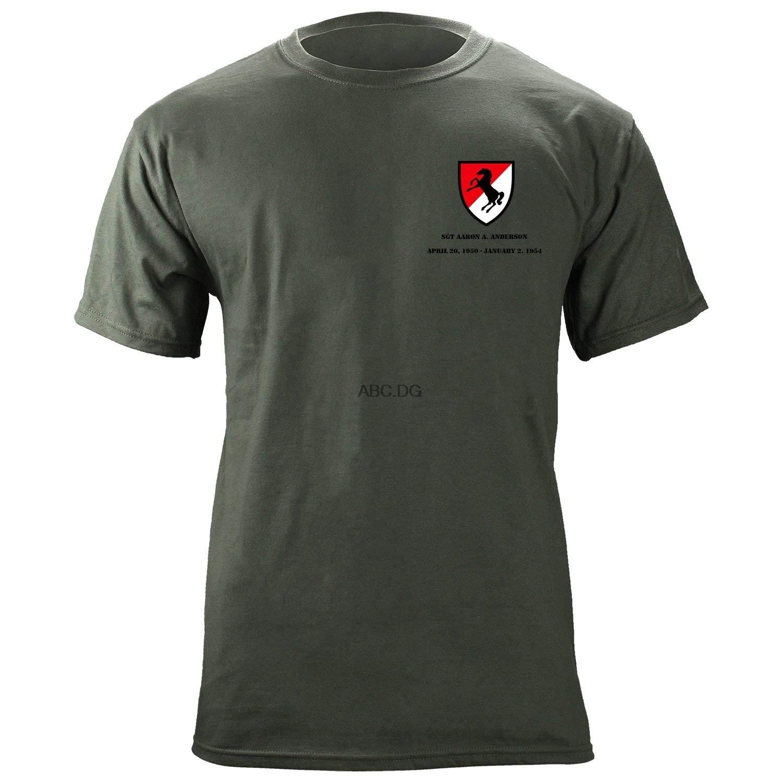Exército 11th armored cavalaria regimento customizável camiseta peito apenas