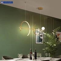 Moderne minimaliste pendentif LED lumiere pour chambre salon salle a manger couloir cuisine Table interieur chaud maison deco lampes Luminaire