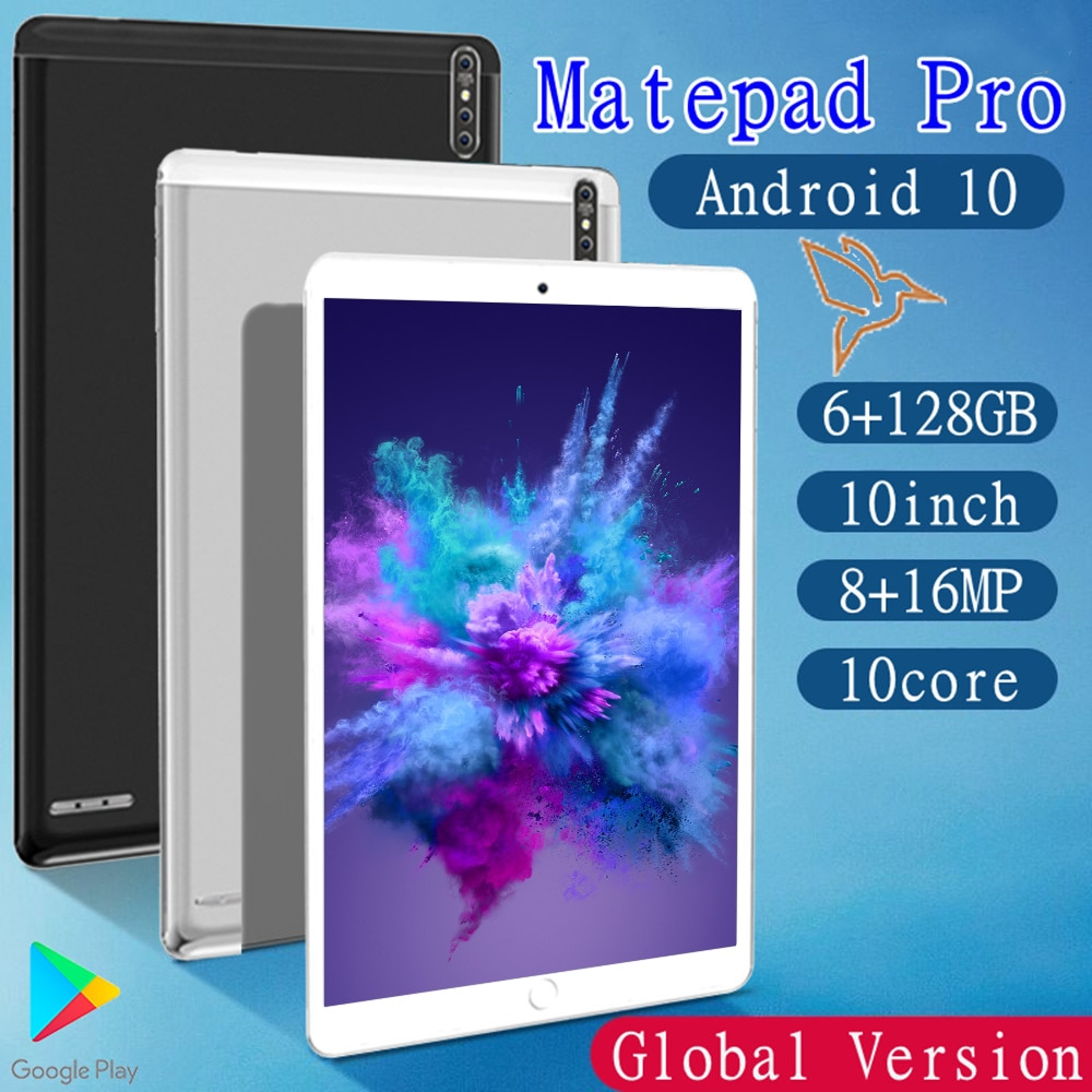 Pad Pro Tablet PC 10.1 inch Tablette GPS Tablets For Drawing 6GB RAM+128GB ROM Touch Screen Tablete