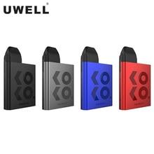 Original uwell caliburn koko pod sistema kit 520 mah bateria 2 ml cartucho sabor-focado vaporizador 11 w cigarro eletrônico vape