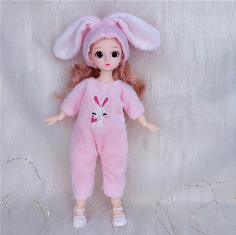 New 13 Joint Movable Bjd 30Cm Doll  3D Simulation Eyes 12 Inch Girl Fashion Dress Up DIY Toy 1/6 Doll Best Birthday Gift for Kid new 21 movable joint 60cm bjd doll 3d eyes long wig detachable hair cover 1 3 fashion dress up body doll girl toy christmas gift