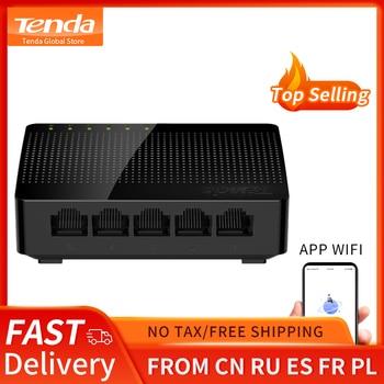 Tenda-Mini commutateur Ethernet SG105 Gigabit, 5 ports, rapide, LAN RJ45, commutateur réseau
