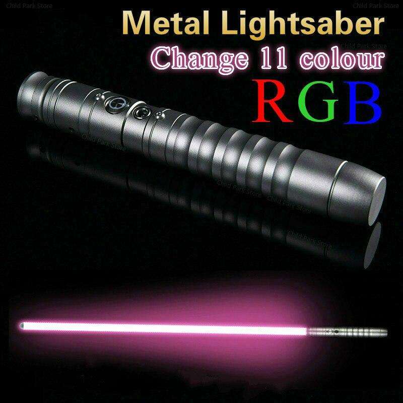 Sabre Laser Cosplay changement 11 couleur Luke sabre lumineux Jedi Sith Laser Force Fx lourd duel son fort 85cm